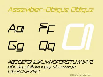 Assembler-Oblique