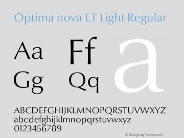 Optima nova LT Light