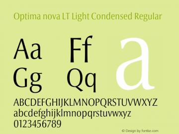 Optima nova LT Light Condensed