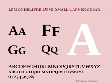 LeMondeLivre Demi Small Caps