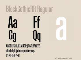 BlockGothicRR