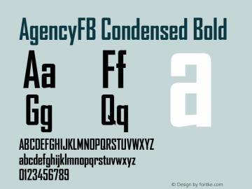 AgencyFB Condensed