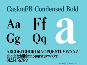 CaslonFB Condensed