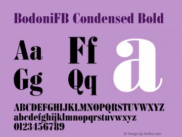 BodoniFB Condensed