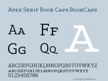 Apex Serif Book Caps