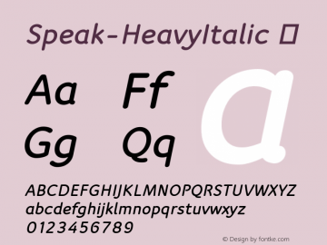 Speak-HeavyItalic