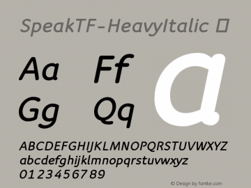 SpeakTF-HeavyItalic
