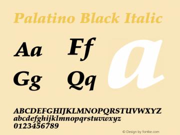 Palatino Black