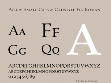 Aldus Small Caps & Oldstyle Fig