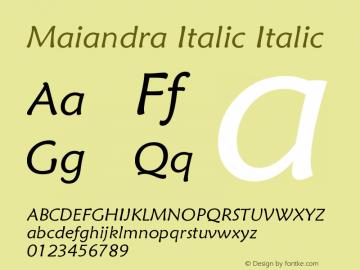 Maiandra Italic