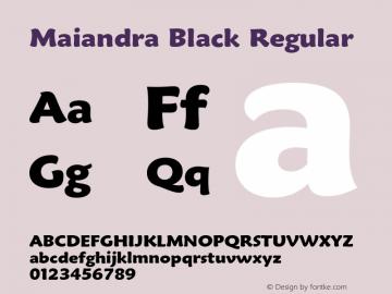 Maiandra Black