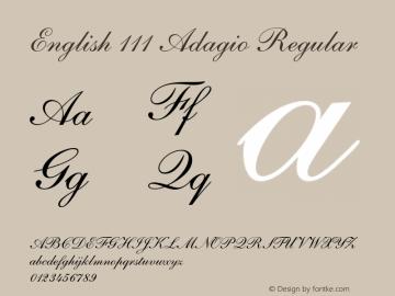 English 111 Adagio