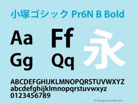 小塚ゴシック Pr6N B