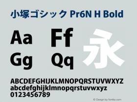 小塚ゴシック Pr6N H