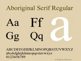 Aboriginal Serif