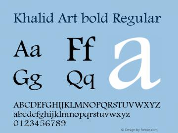 Khalid Art bold