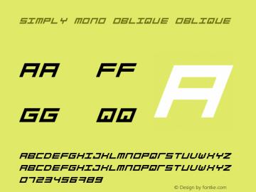 Simply Mono Oblique