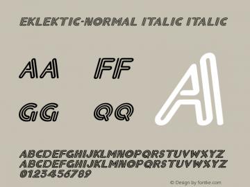 Eklektic-Normal Italic