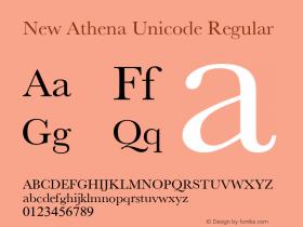 New Athena Unicode