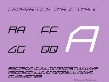 Federapolis Italic