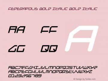 Federapolis Bold Italic