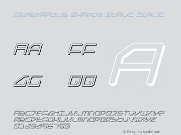 Federapolis Shadow Italic