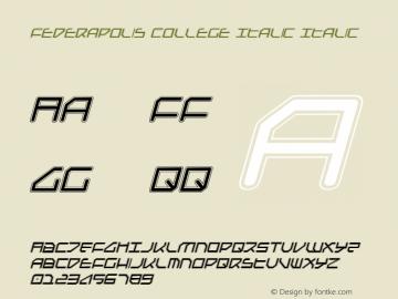 Federapolis College Italic