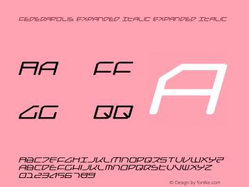 Federapolis Expanded Italic