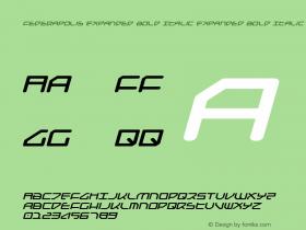 Federapolis Expanded Bold Italic