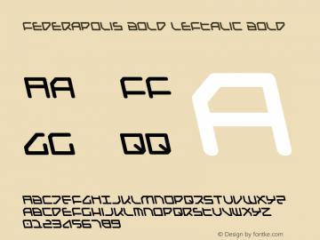 Federapolis Bold Leftalic