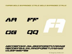 Vyper Bold Expanded Italic
