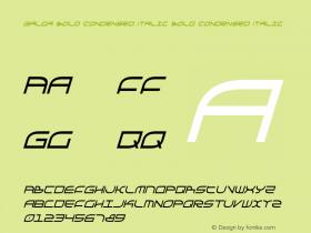 Galga Bold Condensed Italic