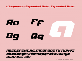 Weaponeer Expanded Italic