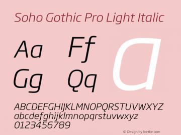 Soho Gothic Pro Light