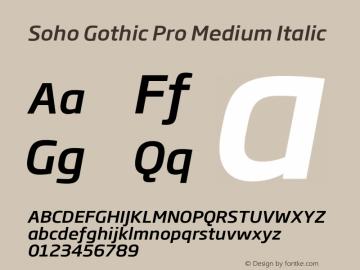 Soho Gothic Pro Medium