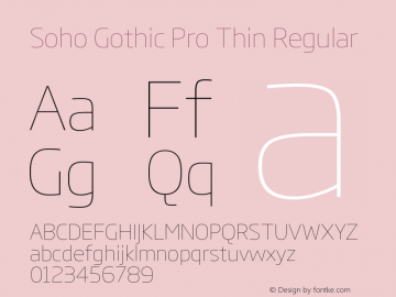 Soho Gothic Pro Thin