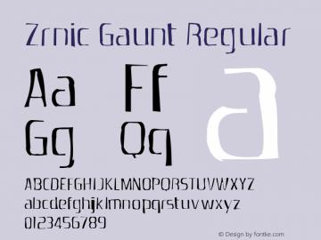 Zrnic Gaunt