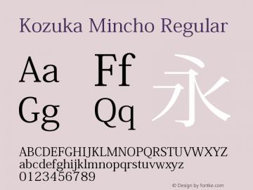 Kozuka Mincho