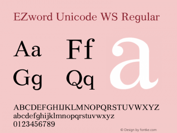 EZword Unicode WS