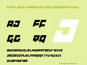 Flight Corps Condensed Italic