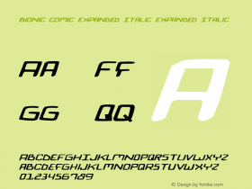 Bionic Comic Expanded Italic