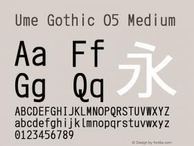 Ume Gothic O5