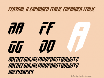 Fedyral II Expanded Italic