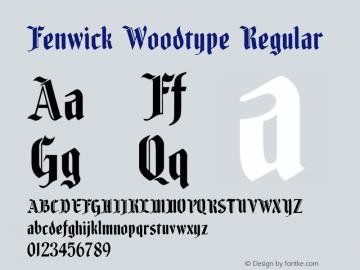 Fenwick Woodtype