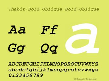 Thabit-Bold-Oblique