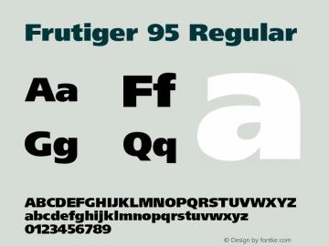 Frutiger 95