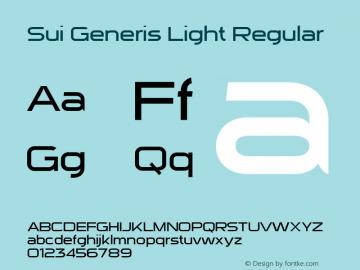 Sui Generis Light