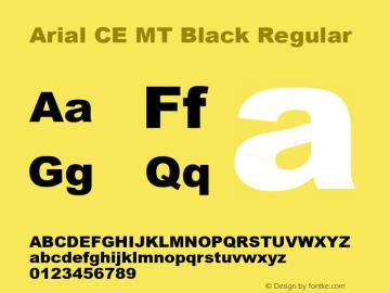 Arial CE MT Black