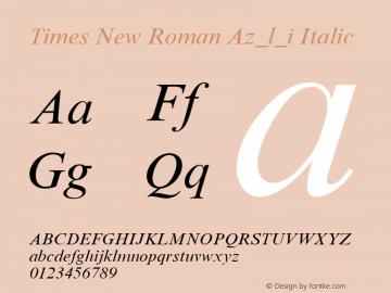 Times New Roman Az_l_i