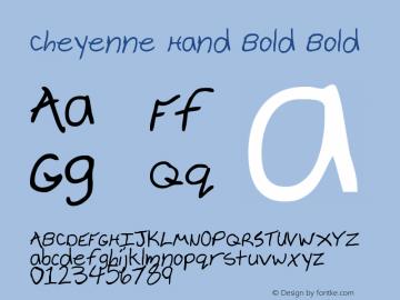 Cheyenne Hand Bold